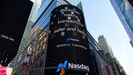 Image of a blockchain billboard