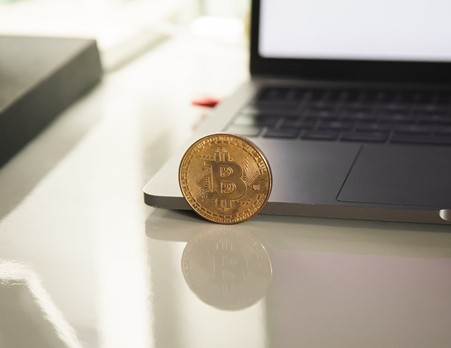 Image of a physical bitcoin