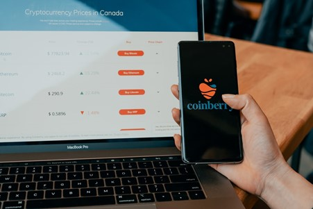 Showing coinberry mobile app
